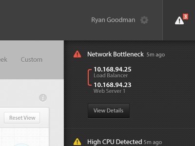 A thing I'm working on... ui alert network header sidebar button pictos alerts monitoring