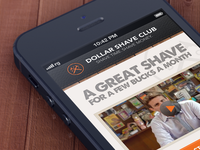 Dollar Shave Club Mobile Site