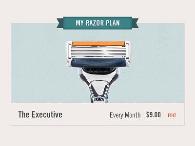 My Razor Plan dsc dollar shave club razor ui edit account
