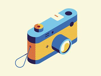 Camera pattern halftone iconography vector camera icon