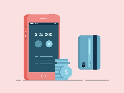 Security Upgraded coins money phone card credit security vector illustration