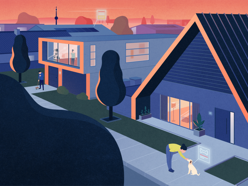 High-Peformance Home texture illustration environmental digital innovative character neighbourhood house