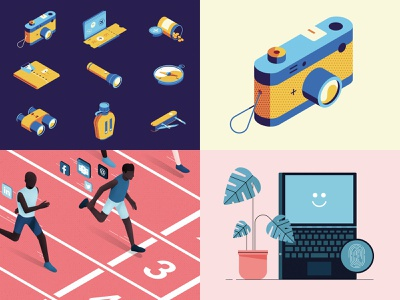 2018 laptop people icon top4shots 2018 isometric illustration vector