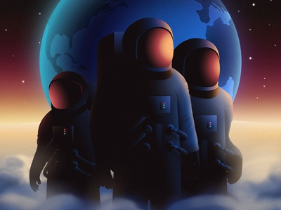 Apollo 11 moon texture digital painting nasa astronauts earth scifi apollo space