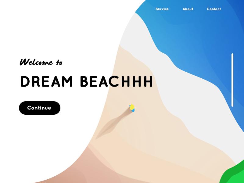 Dream Beachhh landing page