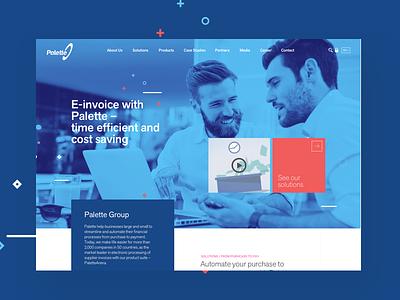 Palette Homepage Header responsive solution software jumbotron header