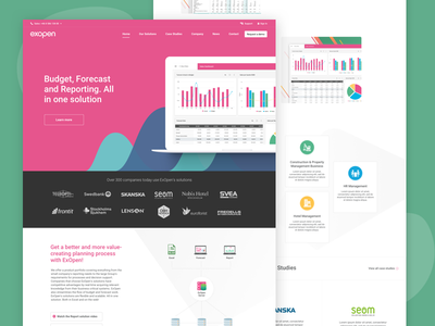 Fintech company Homepage diagram colorful bootstrap product responsive graphs chart technology financial fintech homepage