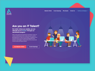 Atlavik Candidate it talent colorful candidate job recruitment header