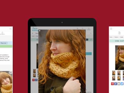 Knit pattern ecommerce site