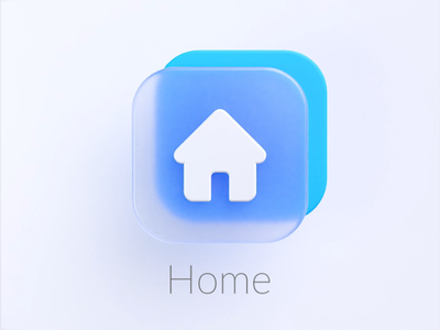 Home Frosted icon frosted inspired icon glass home illustration design c4d web ads logo motion graphics graphic design 3d ui
