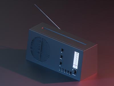 Retro Radio adobe photoshop octane cinema 4d c4d render vintage retro radio model