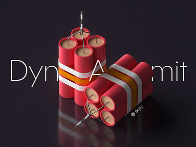 Dynamit game ui dynamit toy octane isometric advertising c4d ads