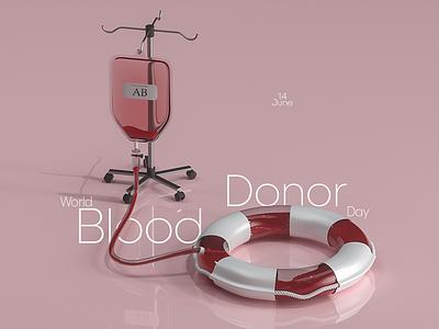 Blood Donor ui ads comercial isometric web realflow 3d cinema4d c4d blood