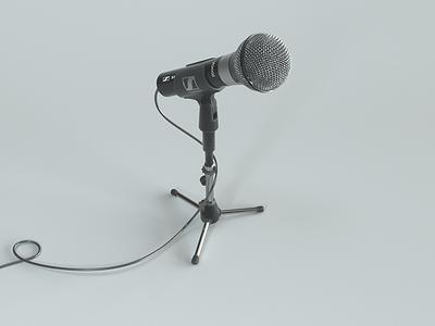 Microphone Isometric web ui microphone isometric comercial cinema4d c4d blood ads 3d music