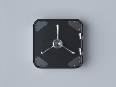 Safe Box app icon icon branding octane app mobile web design logo c4d