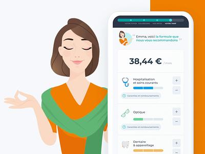 Healthcare selection assistant 💊 mobile web motion ux ui