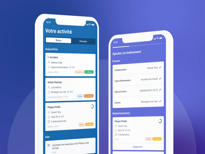 Acciline+ - Case study motion prototype ux ui mobile app