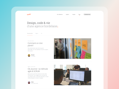 We're launching our blog! ✏️ article blog agency web ui