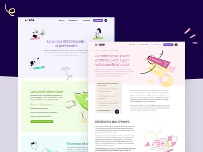 209 Agency - Rebrand & redesign! website illustration branding brand identity ux ui