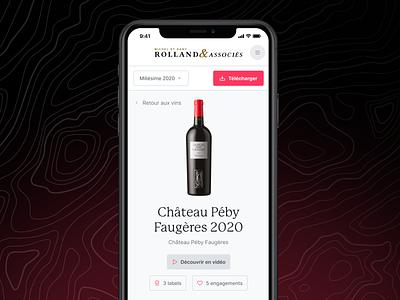 R&A - MVP is live! wine mobile ui