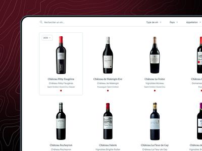 R&A - Wine Search 🍷 website wine ui