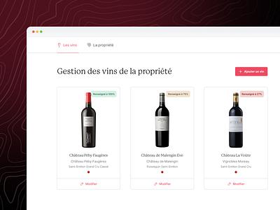 R&A - Wines management 🖍 website wine ui