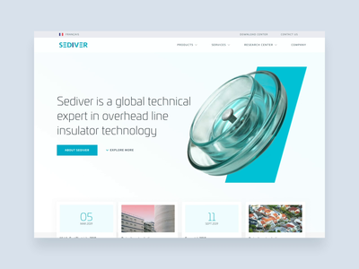 Sediver - Homepage iteration