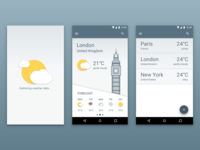Material Weather Mobile App