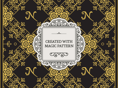 Luxury Vintage Pattern by MAi Tools | Dribbble | Dribbble