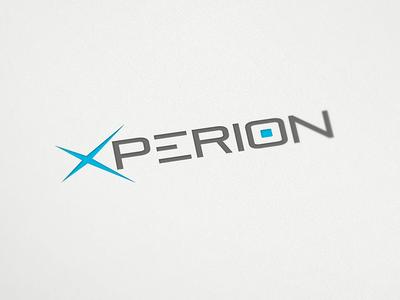 Xperion logo applications software consulting xperion logo logo design