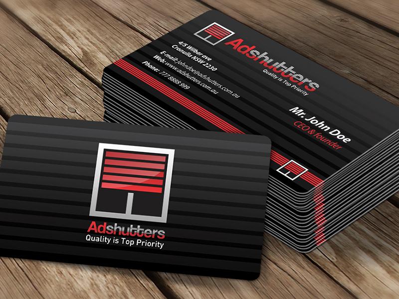 Adshutters logo business card design by 60nine dribbble colourmoves