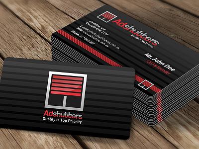 Adshutters logo & business card design industrial roller shutters business card business card design logo design