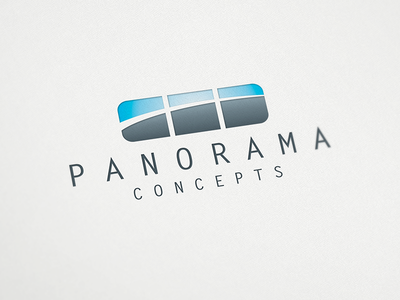 Panorama Concepts logo design computers it apps applications minimalistic contemporary panorama concepts logo design logo