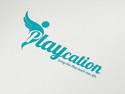 Playcation logo fun health playcation play logo design logo