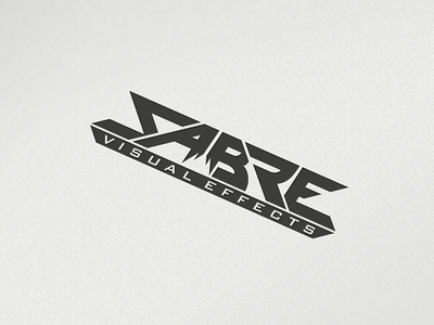 Sabre Visual Effects font type typography logo visual effects logo design sabre