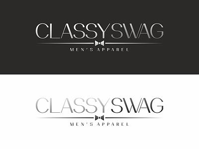 Classy Swag logo tie fashion apparel classy logo design logo