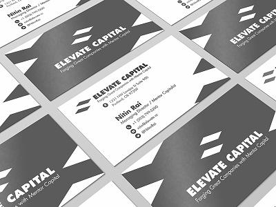 Elevate Capital business card design elevate capital card titanium simple minimalistic stationary business card