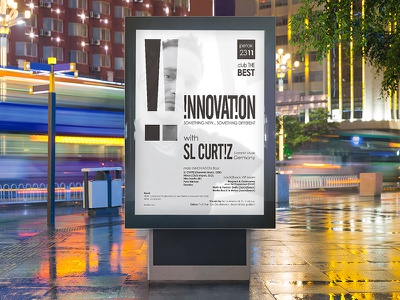 Innovation poster freepik clubbing club music electronic party street poster poster design