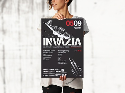 Invazia party poster freepik clubbing club music electronic party street poster poster design