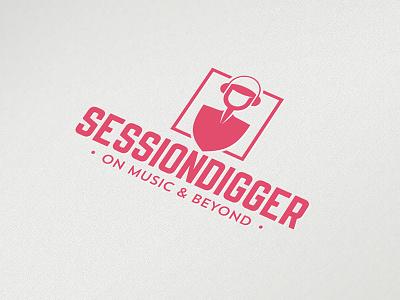 Session Digger logo festivals clubbing scene electronic music dj concert music blog croatia logo design logo sessiondigger