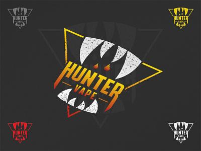 Hunter Vape logo design e-juice eliquid vapers teeth animal hunt vapor e-cigarette ecig vape