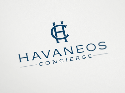 Logo for Havaneos Concierge appartments luxurious property monogram concierge france logo design