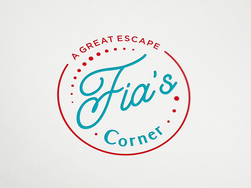 Logo for Fia's Corner cafe bar diner food and drink emblem milkshake coffee cafe logo design