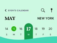 Events calendar 3x