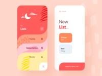 Lists Screen