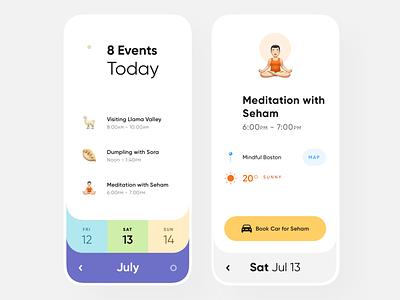Calendar App app design ux uiux ui calendar calendar app calendar ui