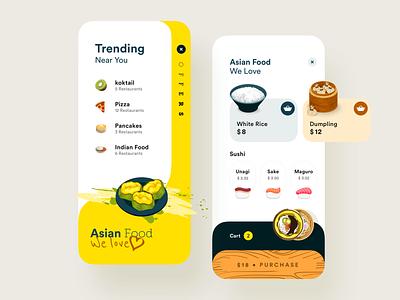 Food App illustration design app ux uiux ui food food app