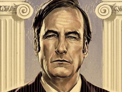 Better Call Saul drawing pencil digital illustration advertising poster portrait fan art tv series