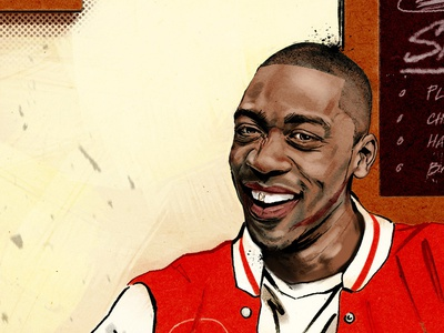 Wiley Portrait. pen and ink cafe feature comment editorial digital hand drawn illustration location musician music portrait