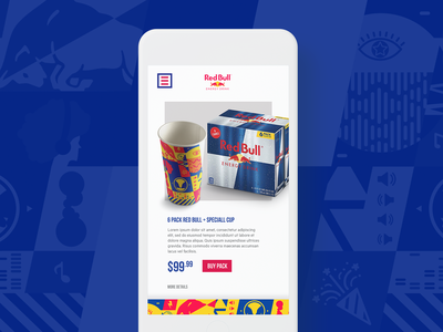 Red Bull OP | NYC gov ball 2019 product page ecommerce redbull festival branding page ui illustration